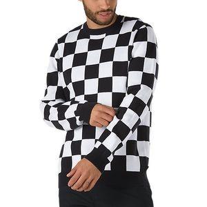 Vans Checker Sweater in Black / White (Men's NWOT)